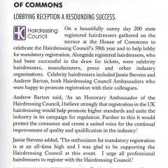 Commons reception a big success