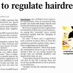 Call to regulate Hairdressers