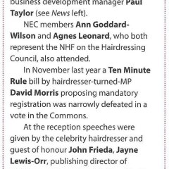 The NHF take tea at the House of Commons